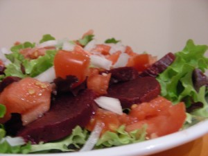 Salade de betterave et coeur de boeuf !