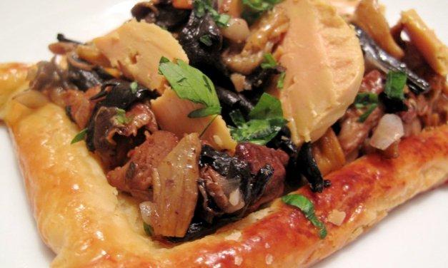 Tartelette forestière et foie gras.