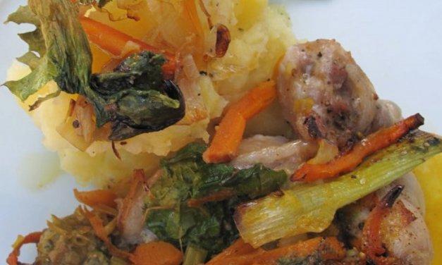 Des cailles farcies foie gras et légumes !