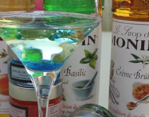 Champagne et perles de chez Monin