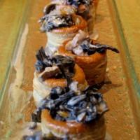 feuilleté apéro champignon