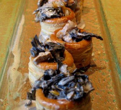 feuilletés  champignon et foie gras