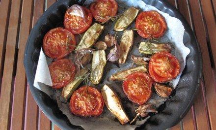 Légumes confits au four