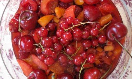 Salade de fruits rouges & pêches