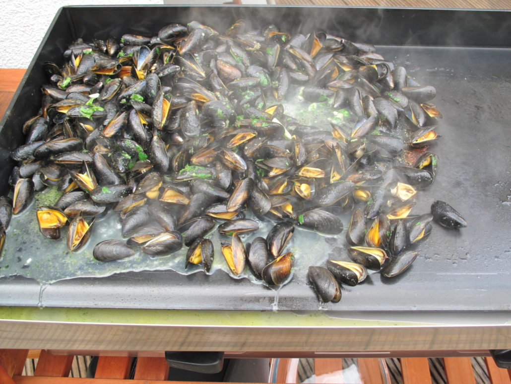 Moules cuites la plancha for Cuisiner a la plancha