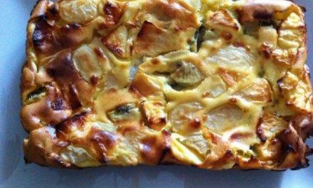 gâteau aux fruits de saison Pomme, poire et kiwi.