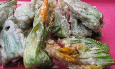 Tempura de légumes / Fleur de courgette