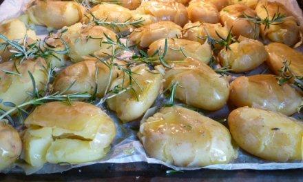 Pommes de terre coup de poing.