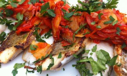 filets de vive / poivron /coriandre