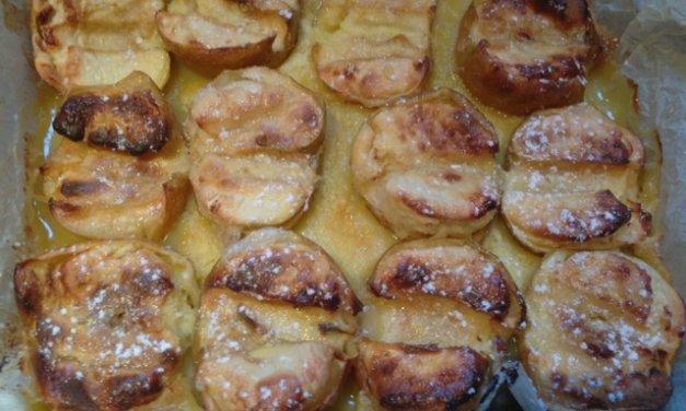 Gâteau du dimanche !  pommes au four – crème citron.