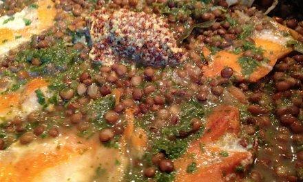 lentilles / haddock / moutarde