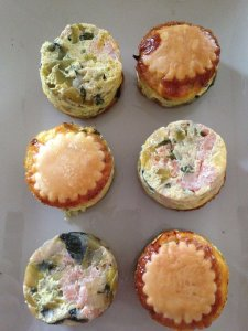Mini-quiche au saumon