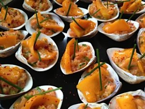 tartare de saumon et de mangue