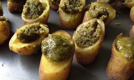 Pommes de terre au pesto pour Apéro.