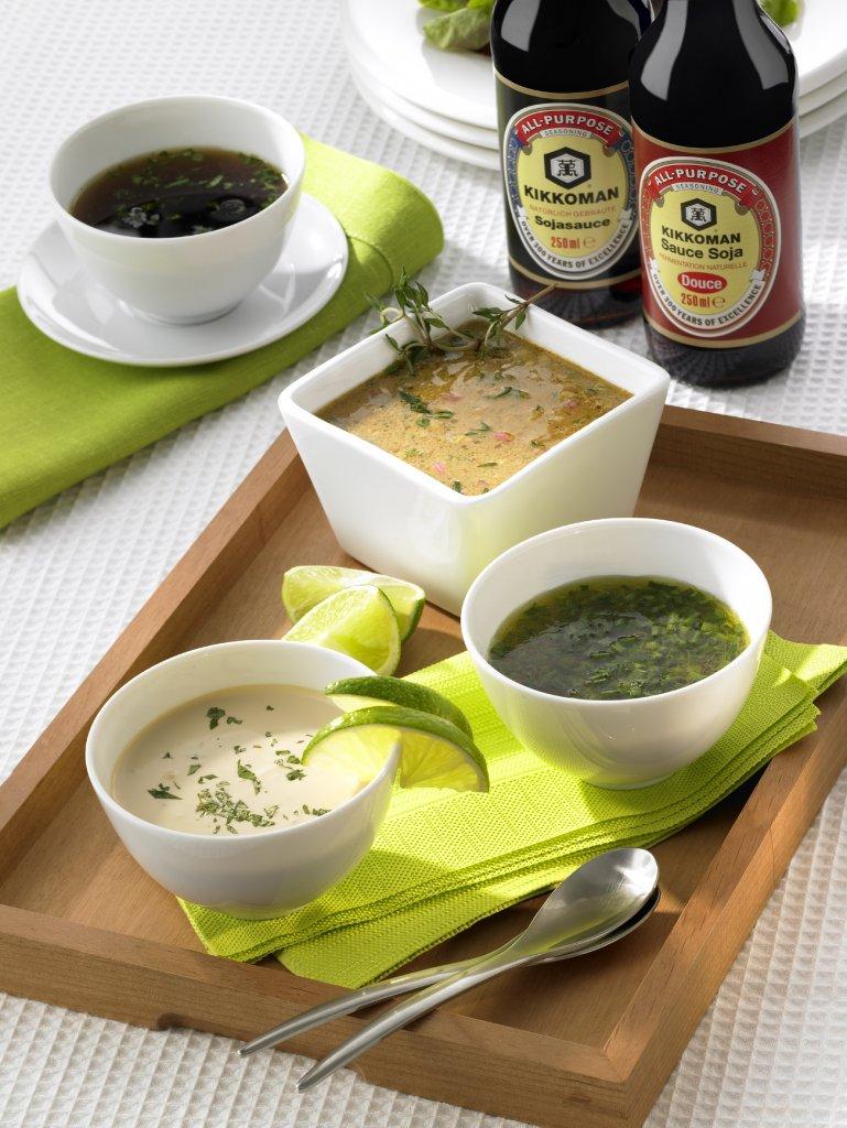 idées de sauces vinaigrettes kikkoman