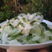 salade de concombre au CHAVROUX