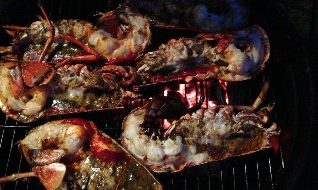 Homard grillé  au BBQ