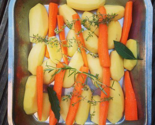 légumes cuits au four