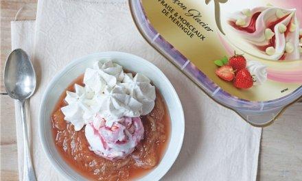crème glacée fraise-meringue