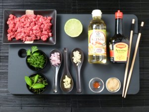Steak tartare Thaï au boeuf