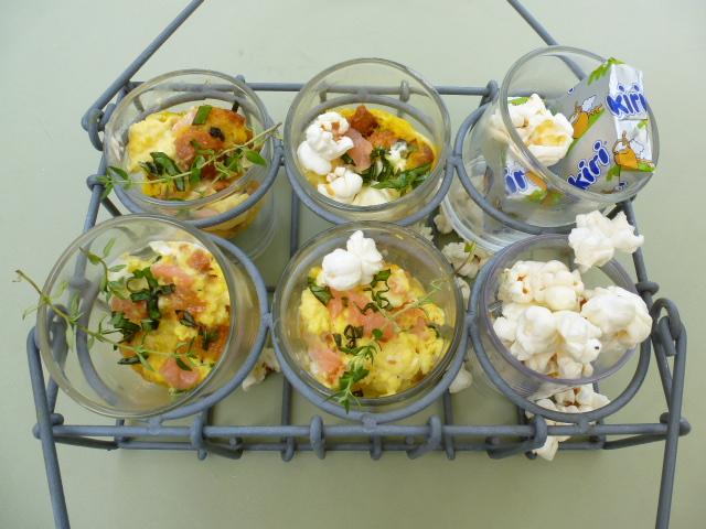 Mug-quiche au fromage Kiri