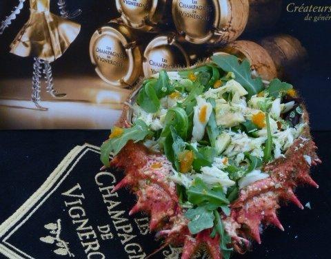 Araignée de mer / crabe / salade