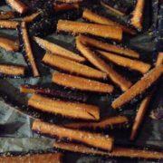 frites de carottes cuites au four