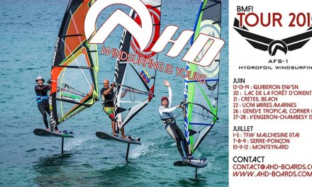 Windsurf foil AHD à Créteil Beach