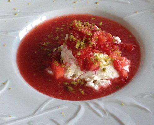 fraises ricotta