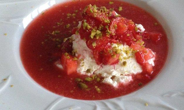 Fraises / Ricotta dessert léger et gourmand