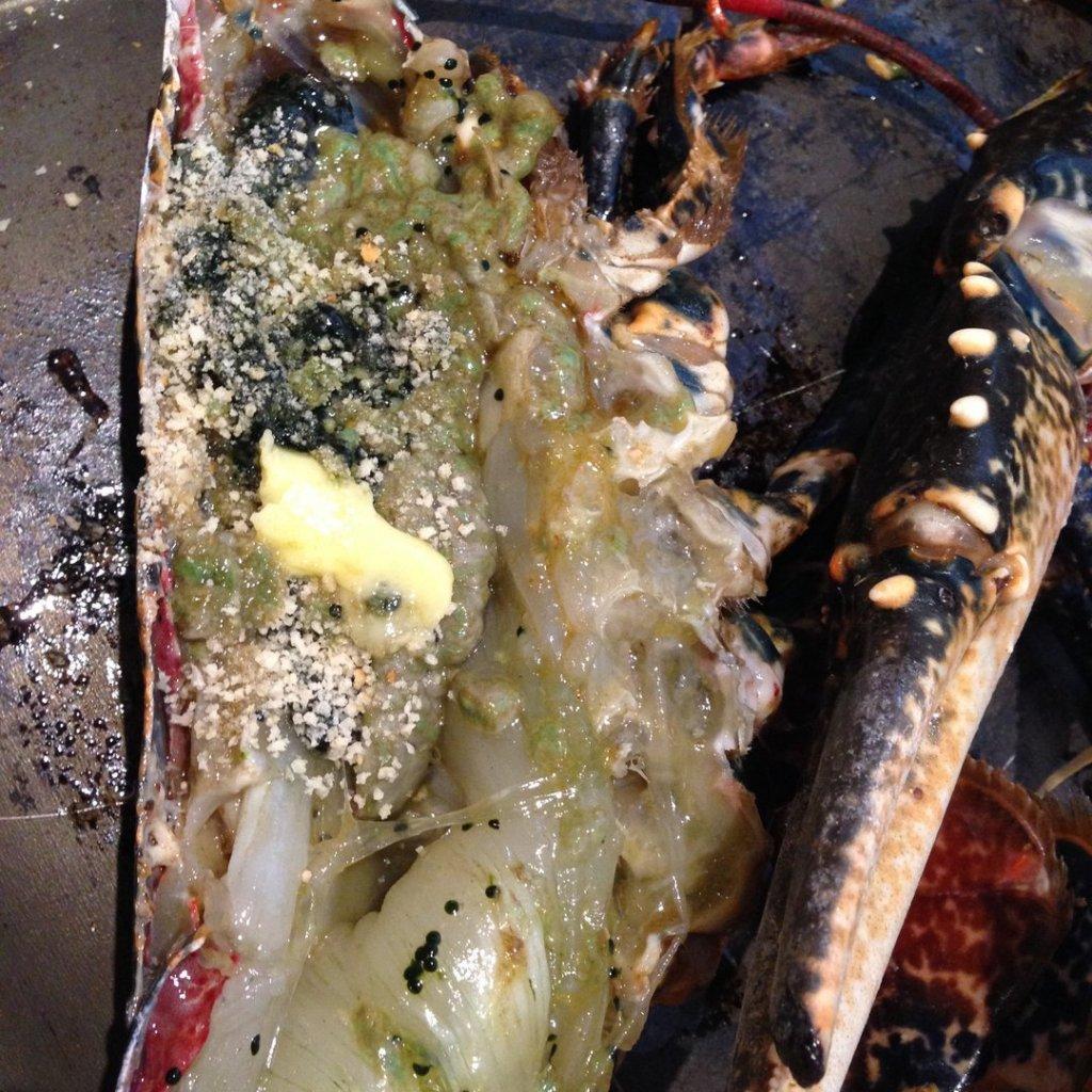 homard grillé au four