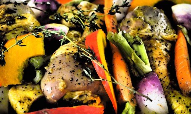 Cuisses de poulet cuites au four