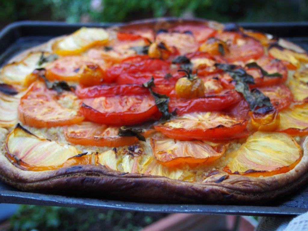 tarte croustillante à la tomate