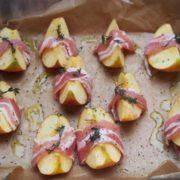 pommes lards au four