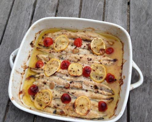 filets de maquereau cuiisinés