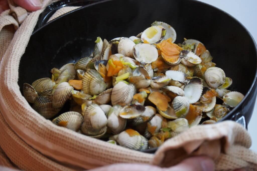 cuisson des coques