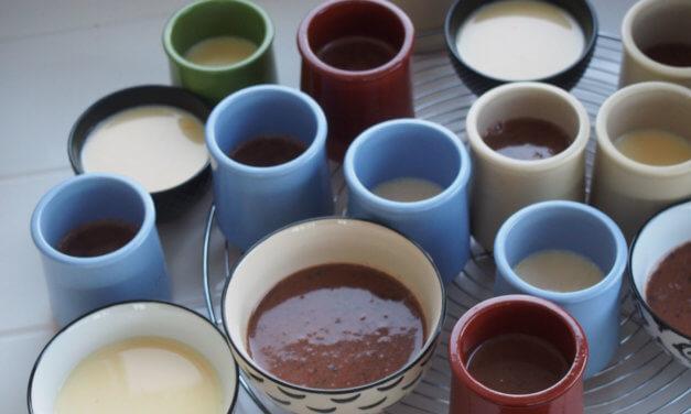 pots de crème / lait / Nestlé /oeufs / vanille / chocolat