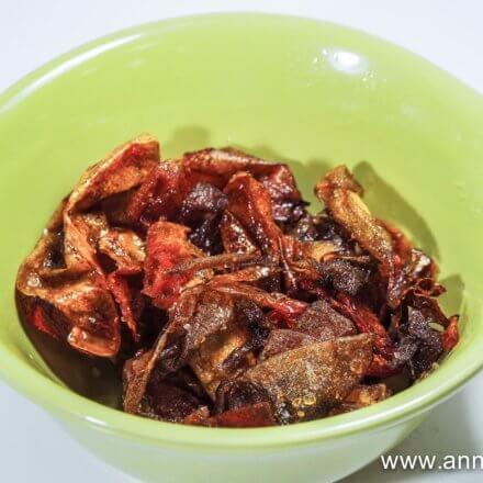 Chips de peau de tomate,  c'est rigolo comme tout  pour l'apéro !