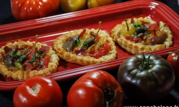 Tarte à la Tomate / Fleurs de câpre c'est de saison !