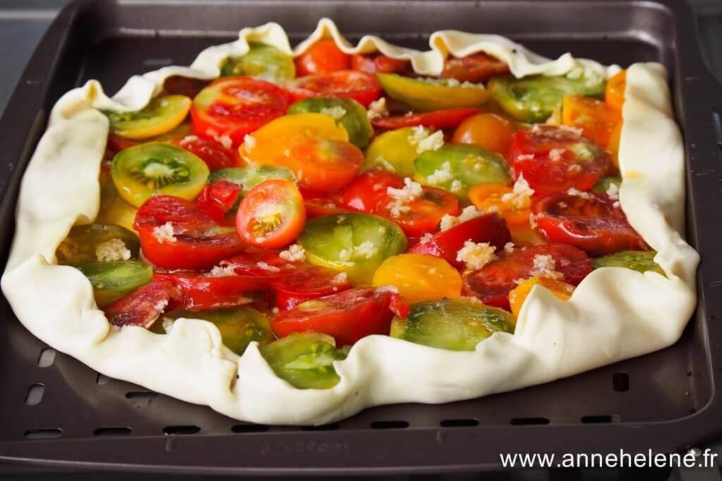 tarte tomate à l'ail