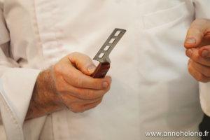 couteau alvéolé pour découpe du foie gras