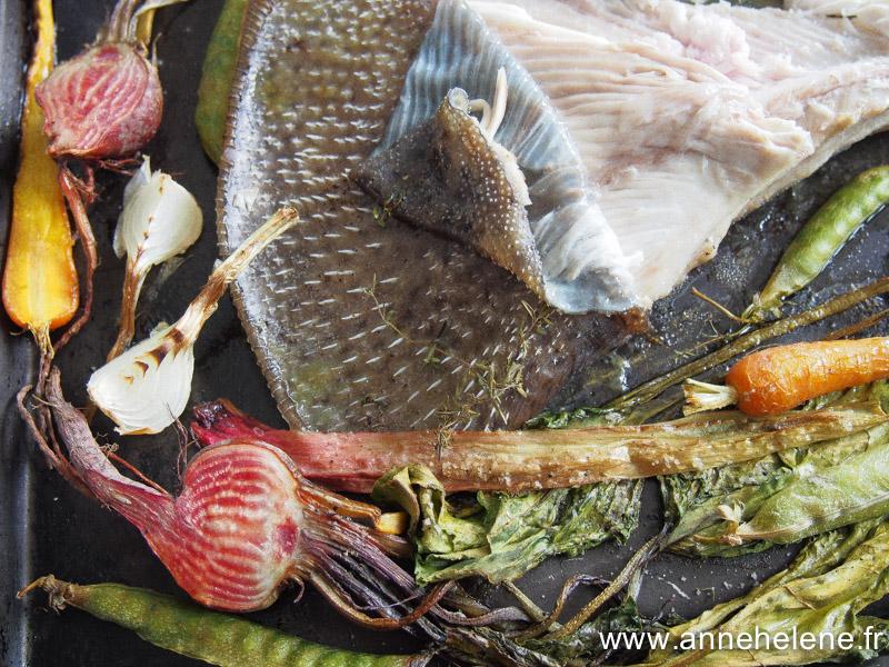 recette de raie au four avec légumes