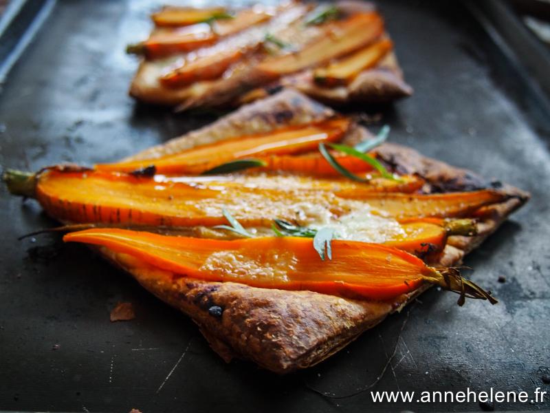 Recette de tarte à la carotte.