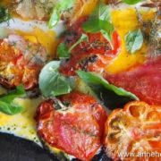 recette de tomates et oeufs plancha