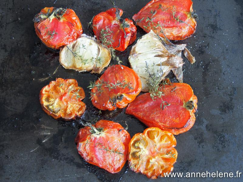 Des tomates cuites au four, c'est super bon !