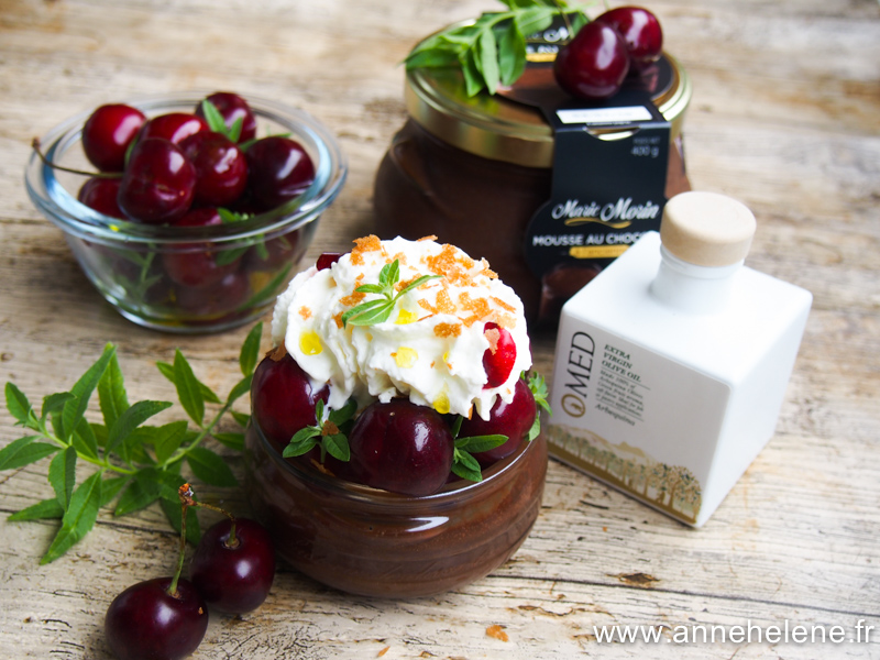 Cerises confites à l'huile d'olive