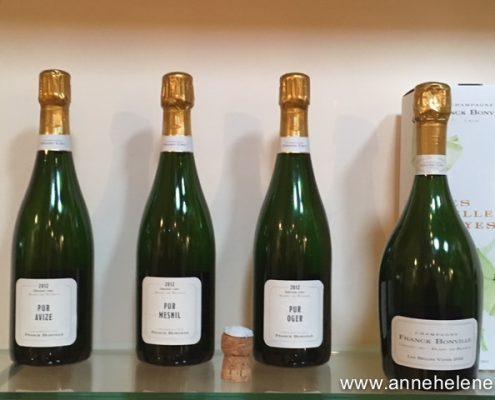 Bouteilles de champagne bonville