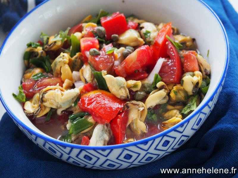 salade de moule et tomate