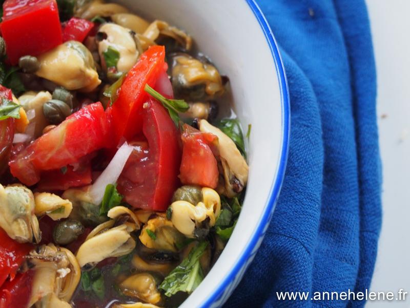salade de moules et câpres