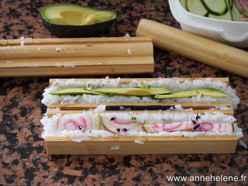 sushis maison aux légumes facile à réaliser